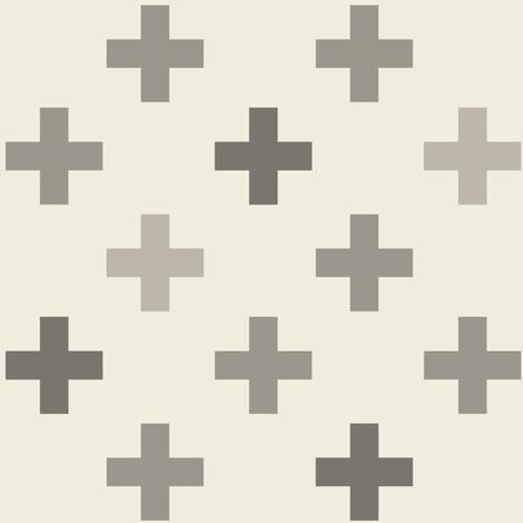 Mod_Plus_Grays fabric by googoodoll on Spoonflower - custom fabric