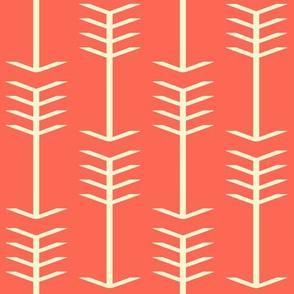 Cream and Coral Arrows