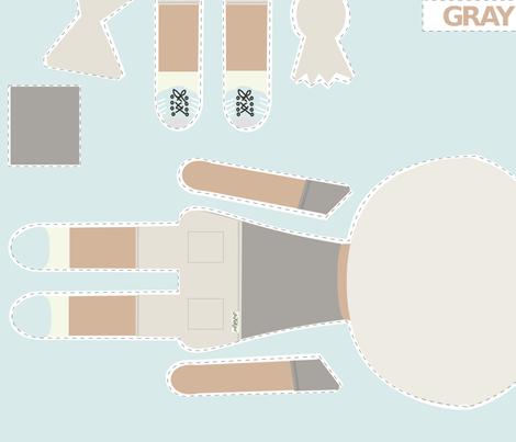 BOY Doll Fabric - Grey + Quilt fabric by seekatesewfabric on Spoonflower - custom fabric