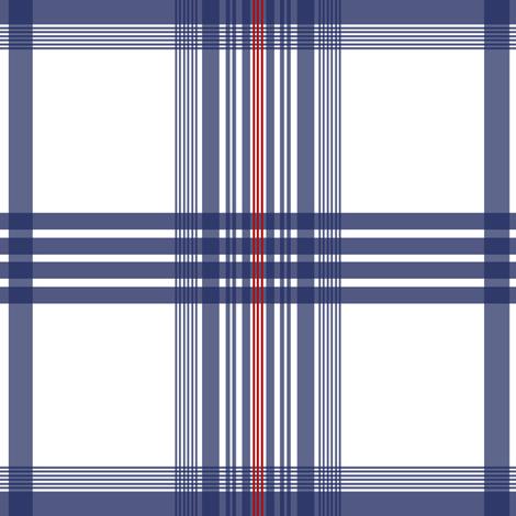Ostersund Tartan ink blue fabric by lilyoake on Spoonflower - custom fabric