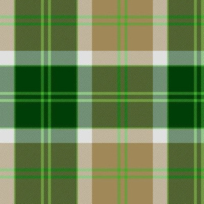 Bannockbane trade tartan - green and tan