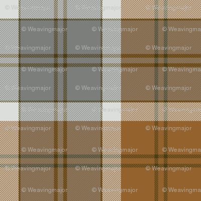 Bannockbane trade tartan - grey and tan