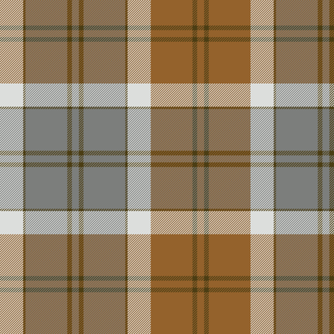 Bannockbane trade tartan - grey and tan fabric by weavingmajor on Spoonflower - custom fabric