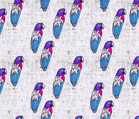 bananarama_parrot_purple fabric by holli_zollinger on Spoonflower - custom fabric