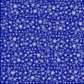 Snowflakes on Indigo