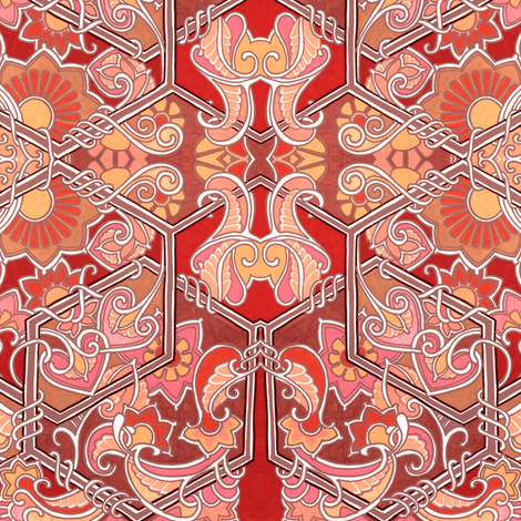 Paisley Curl Honeycomb Cornucopias fabric by edsel2084 on Spoonflower - custom fabric