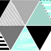4 inch equilateral triangles = mint