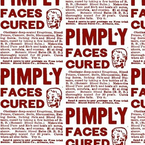 Botanic Blood Balm Pimple Cure Ad