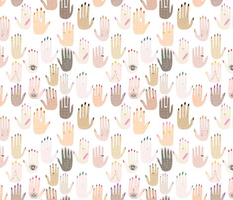 Girl Hands fabric by ash_sta__teresa on Spoonflower - custom fabric