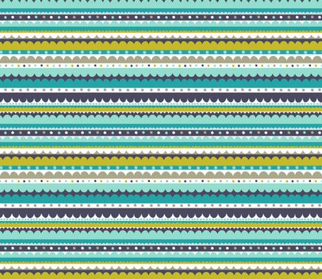 tea pot - coastal  fabric by elephantandrose on Spoonflower - custom fabric