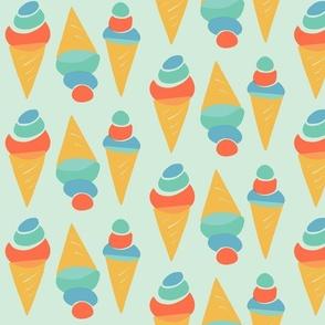 Minty ice cream