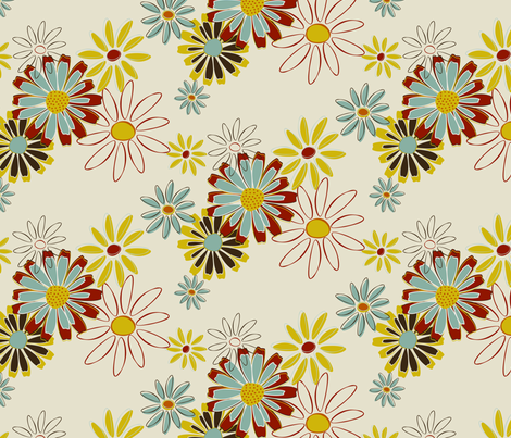 Daisy Chain fabric by @millydees on Spoonflower - custom fabric