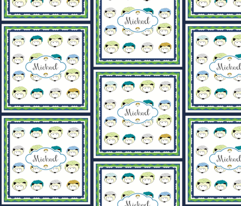 Hedgehog Fun Quilt Rugby-Personalized fabric by drapestudio on Spoonflower - custom fabric
