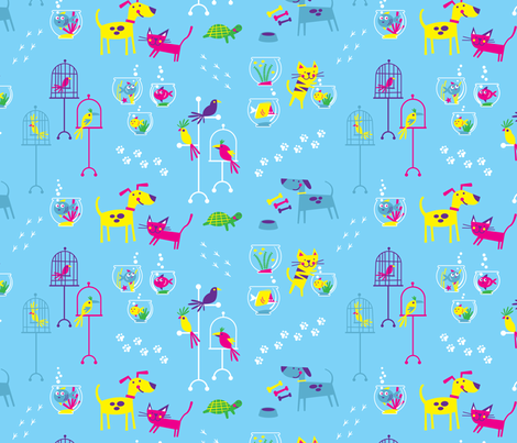 Petshop (light blue) fabric by edward_elementary on Spoonflower - custom fabric