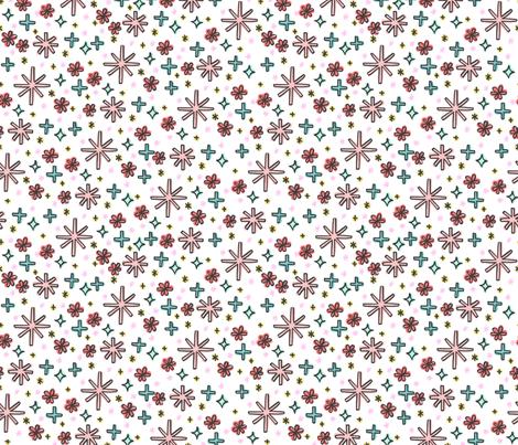 retro ditzy fabric by kristinnohe on Spoonflower - custom fabric