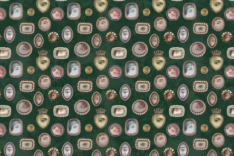 lovers' eyes (green) fabric by mossbadger on Spoonflower - custom fabric
