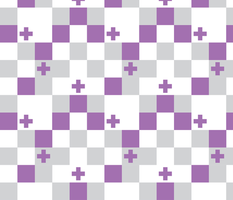 SquareCross Lilac1 fabric by radgedesign on Spoonflower - custom fabric
