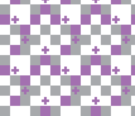 SquareCross Lilac2 fabric by radgedesign on Spoonflower - custom fabric