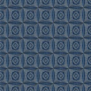 Blue and Gray Qbist Tiles