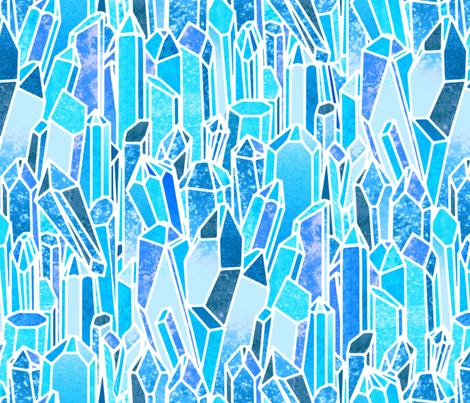 Crystals fabric by jadegordon on Spoonflower - custom fabric