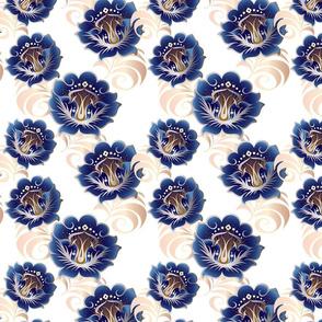 Metalic-Blue-flowers-BKGRD-Tile