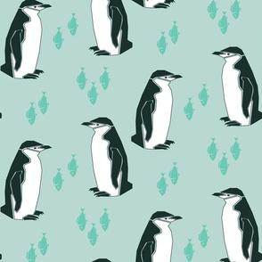 Preppy Penguin - Mint