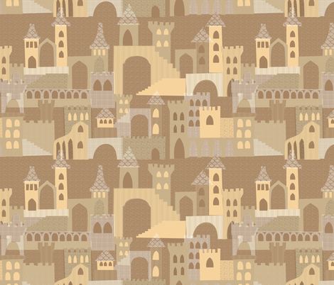 A Dream of Sandcastles fabric by ceciliamok on Spoonflower - custom fabric