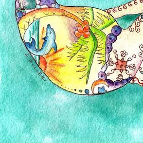 mermaid and seashell