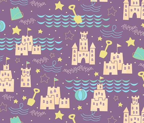 sandcastlepattern fabric by my_sweet_lily on Spoonflower - custom fabric