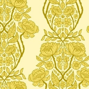 rococo wallpaper - yellow