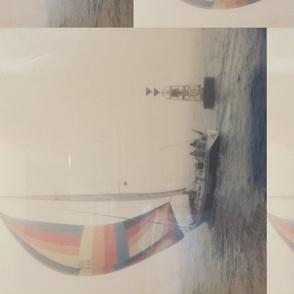 Lu's sailboat on misty day