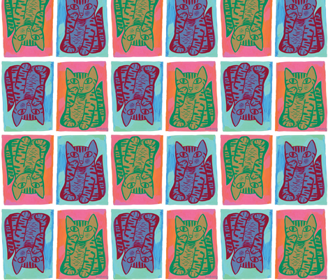 kitty-san fabric by johnandwendy on Spoonflower - custom fabric