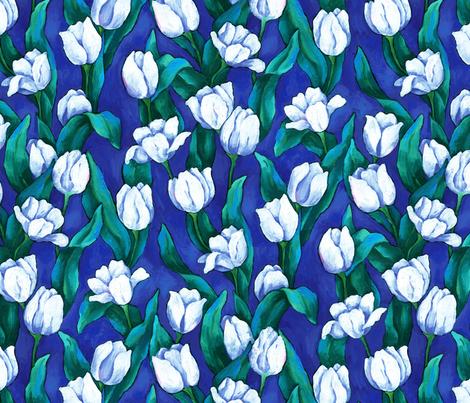 Evening Tulips fabric by ileneavery on Spoonflower - custom fabric
