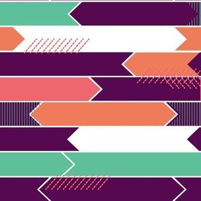 arrows- purple