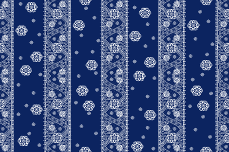 Sadie Paisley white on ink fabric by lilyoake on Spoonflower - custom fabric