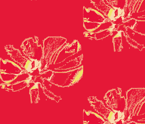 Orchids on Red  fabric by menny on Spoonflower - custom fabric