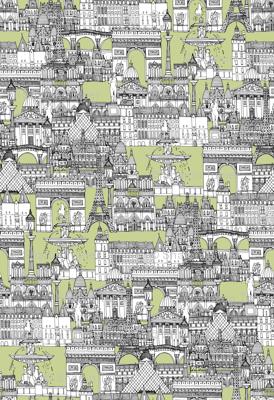 Paris toile eau de nil