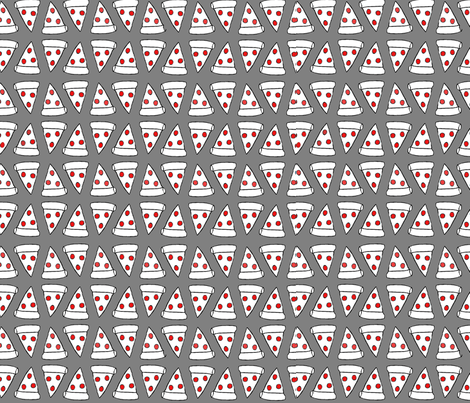 Pepperoni pizza slice grey red wallpaper space panda for Red space fabric