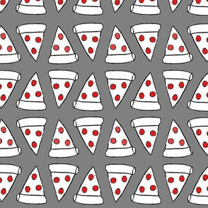 Pepperoni Pizza Slice, Grey & Red
