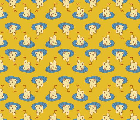 Surreal SandCastles fabric by seesawboomerang on Spoonflower - custom fabric