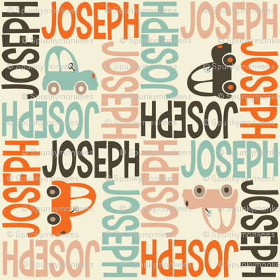 personalised name fabric - 4WAY with pic