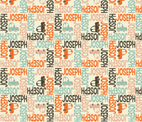 personalised name fabric - 4WAY with pic fabric by spunkymonkees on Spoonflower - custom fabric