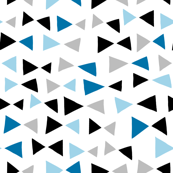 Tropical Triangles - Blue (smaller version) by Andrea Lauren