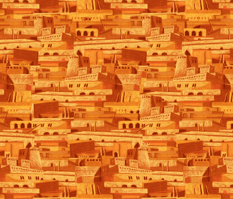sandcastles at evening fabric by chicca_besso on Spoonflower - custom fabric
