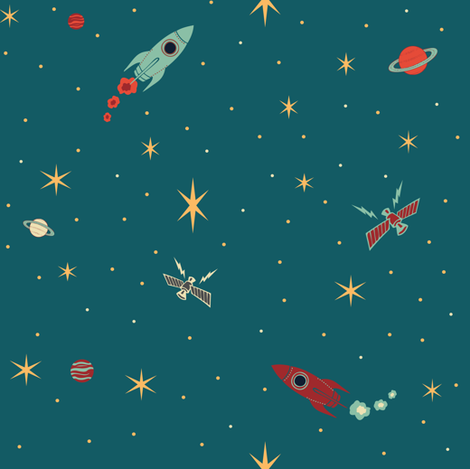 rockets_vintage_colors-01 fabric by jennifer_todd on Spoonflower - custom fabric