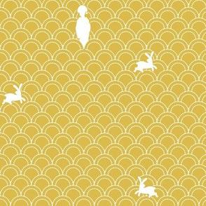Maiko-san and Rabbits (yellow)