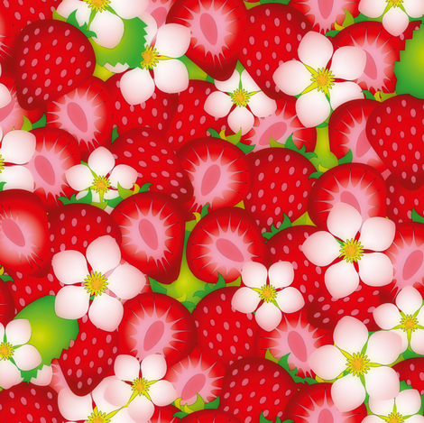 Strawberry field 2 fabric by leventetladiscorde on Spoonflower - custom fabric