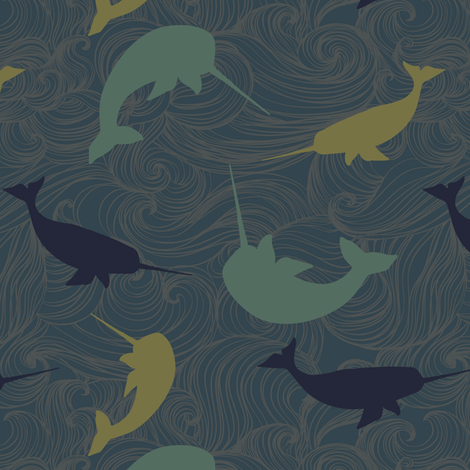 narwhal-01 fabric by jennifer_todd on Spoonflower - custom fabric