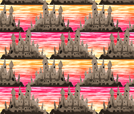 Sandcastle Sunrise fabric by pond_ripple on Spoonflower - custom fabric