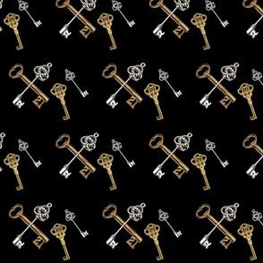antique interlocked keys